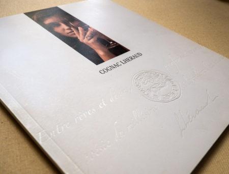 Création mise en page catalogue luxe. Cognac.