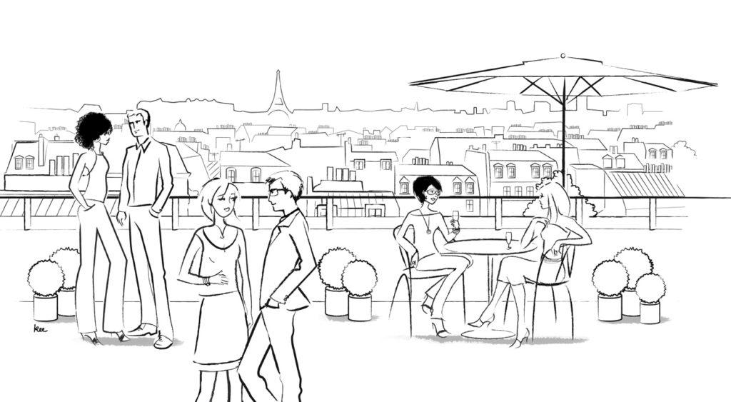 Création illustration Paris.