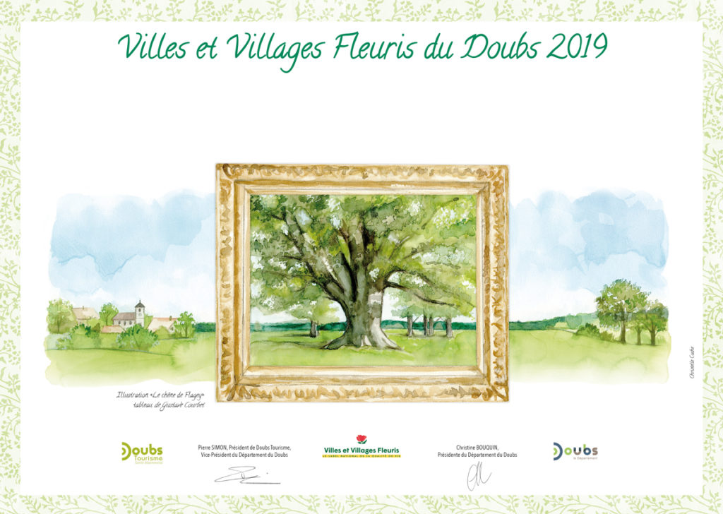 Diplome Villages fleuris Doubs - Chêne Flagey