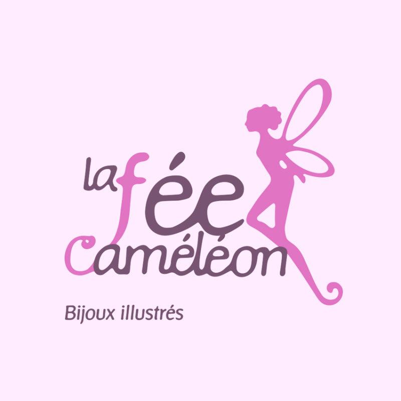 La Fée Caméléon - Création logo - Besançon - Christelle Cuche