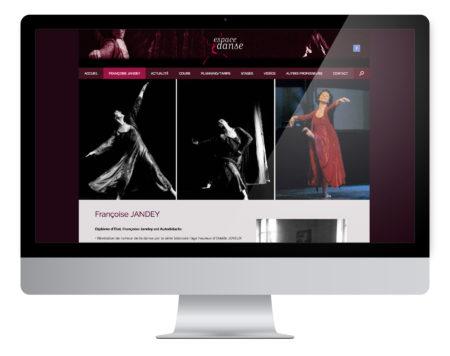Création site internet, École de Danse à Besançon.