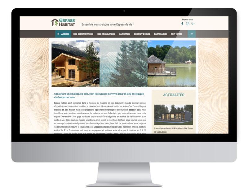 Création site internet espass-habitat-bois, constructeur de mains bois en Bourgogne-Franche-Comté