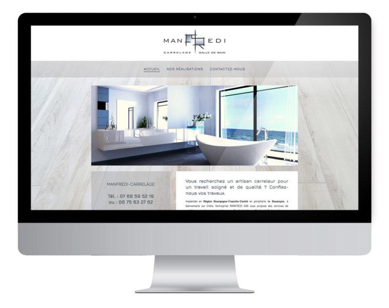 Création site internet Manfredi carrelage