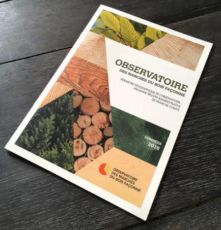 Création mise en page brochure, observatoire des marchés du bois - Fibois Bourgogne-Franche-Comté
