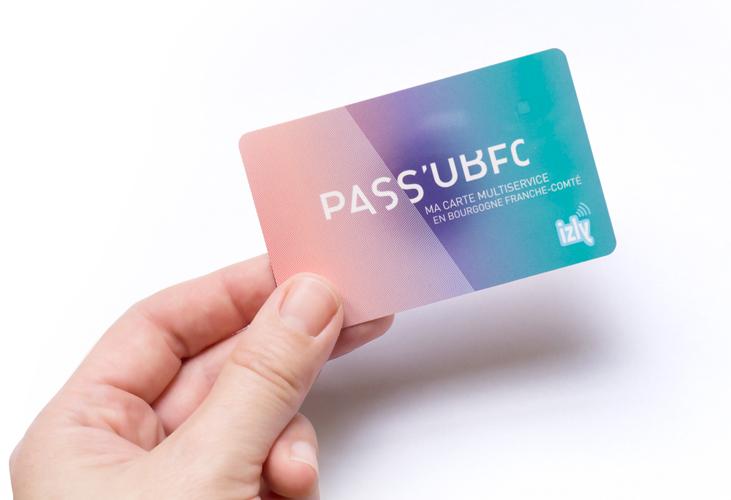 Création logo et visuel carte multiservice PASS'UBFC, Université Bourgogne Franche-Comté