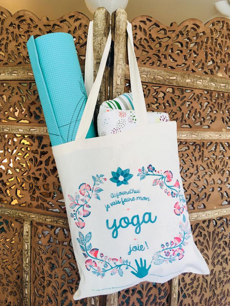Création illustration pour un tote bag de yoga
