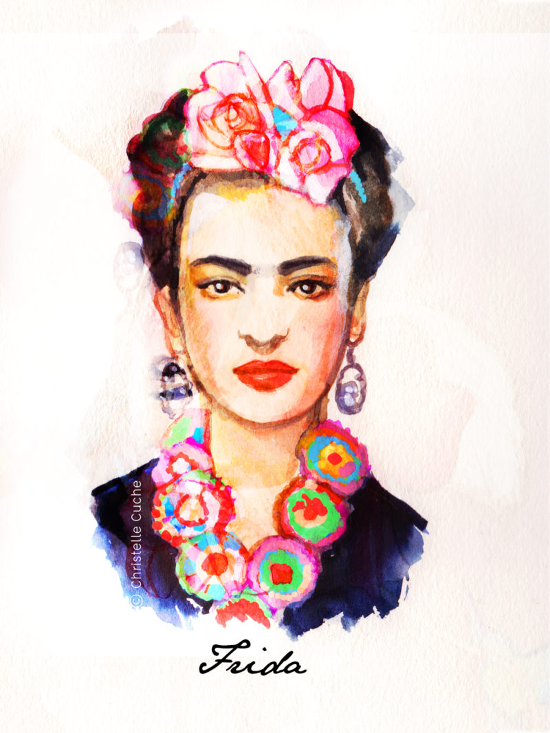 Illustration Frida Kahlo