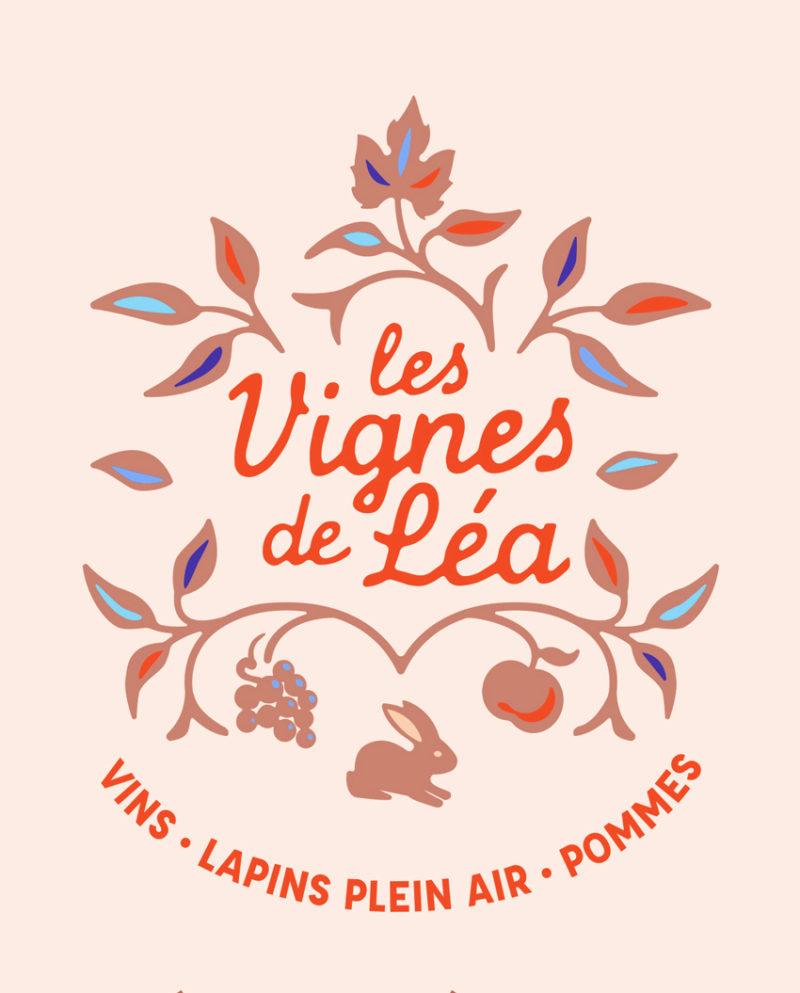 Vignes de Léa - Création logo - Besançon - Christelle Cuche