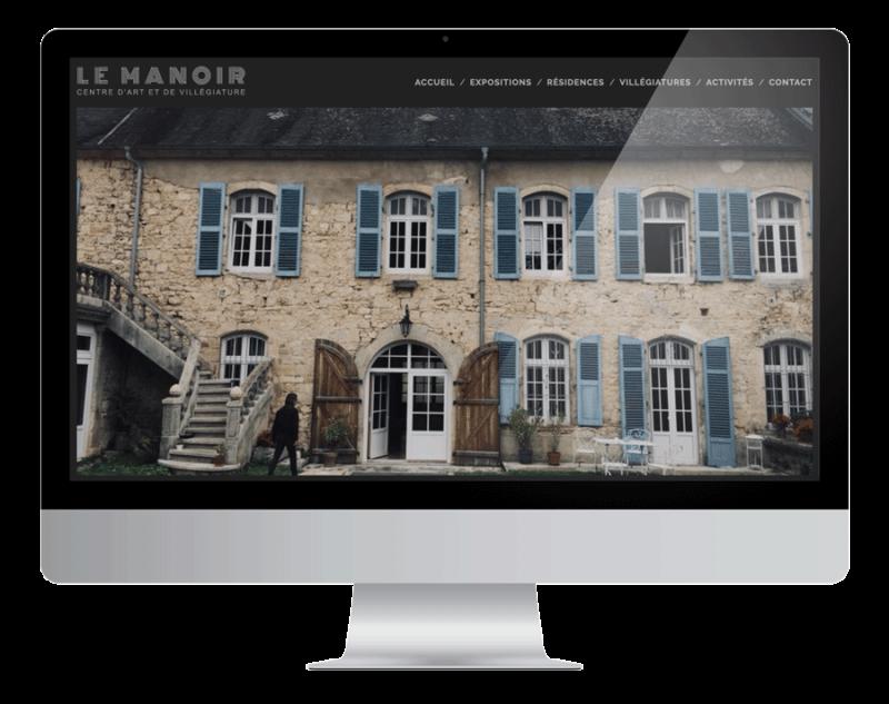 Création site Le Manoir Centre d'Art à Mouthier-Haute-Pierre