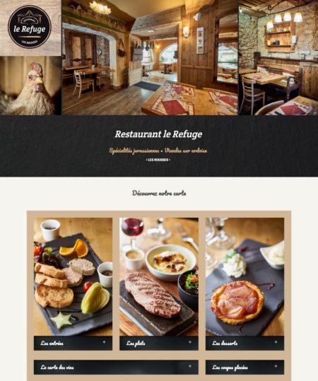 Création site internet restaurant Les Rousses - Jura