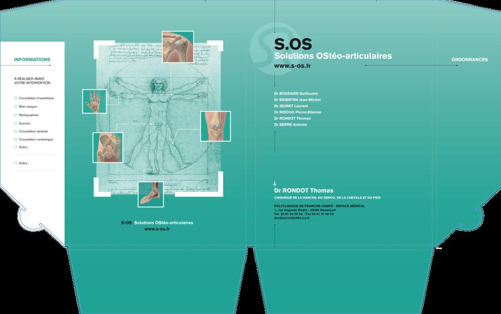 Mise en page pochette medicale chirurgie Besançon- Christelle Cuche