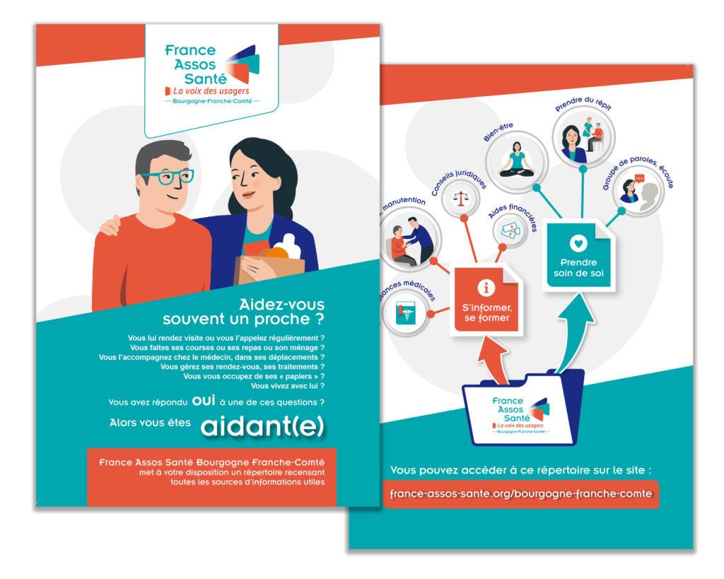 Creation flyer AIDANTS France Assos Santé - Christelle Cuche