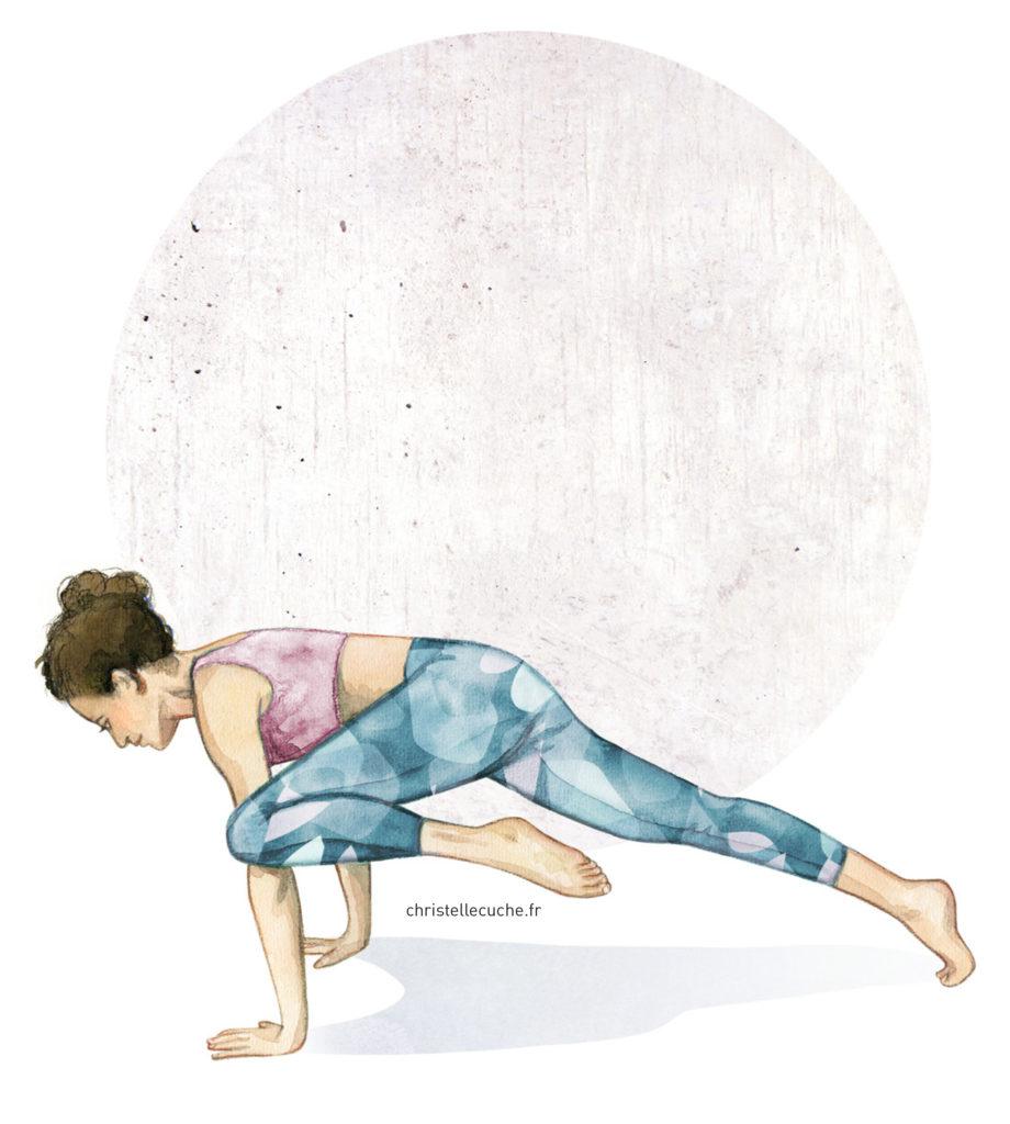 Illustration yoga - Christelle Cuche