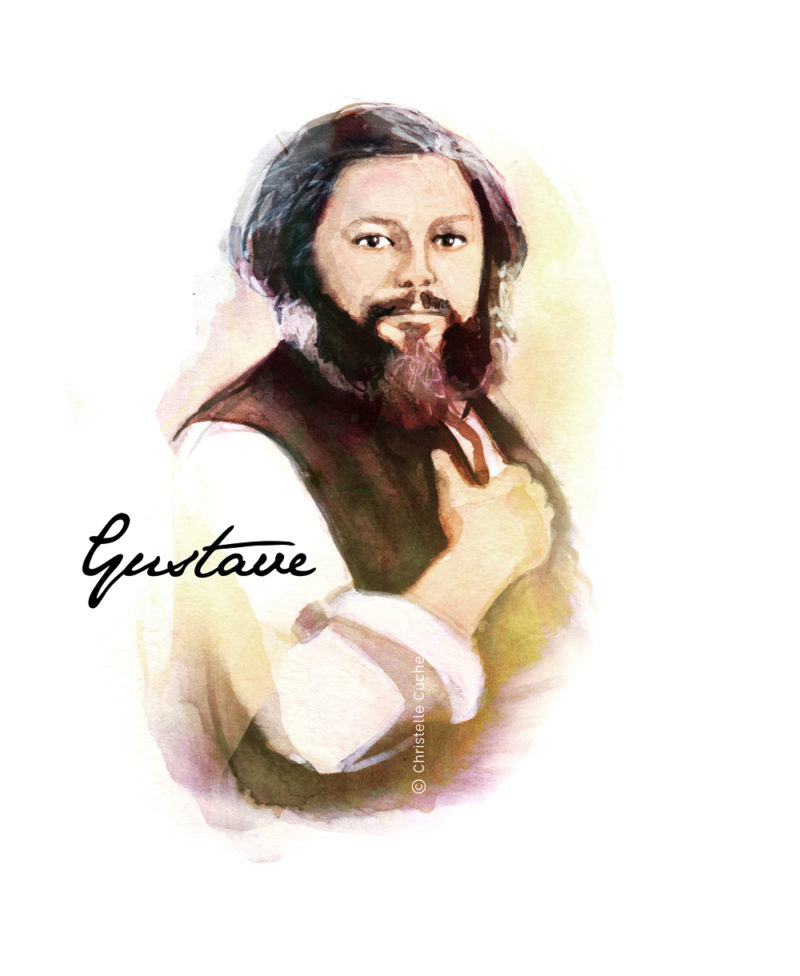 Dessin représentant Gustave Courbet christelle Cuche