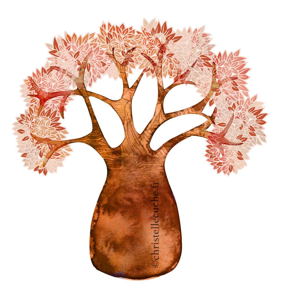 Arbre baobab-Dessins Christelle cuche