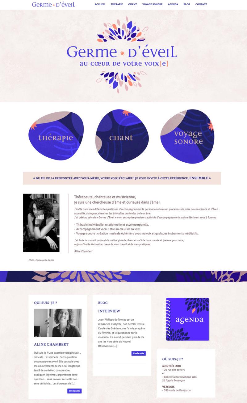 Création site web, Germe D'éveil