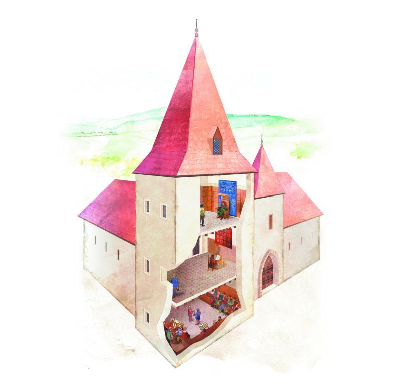Illustration Grande Saline de Salins les Bains - Christelle Cuche Besançon