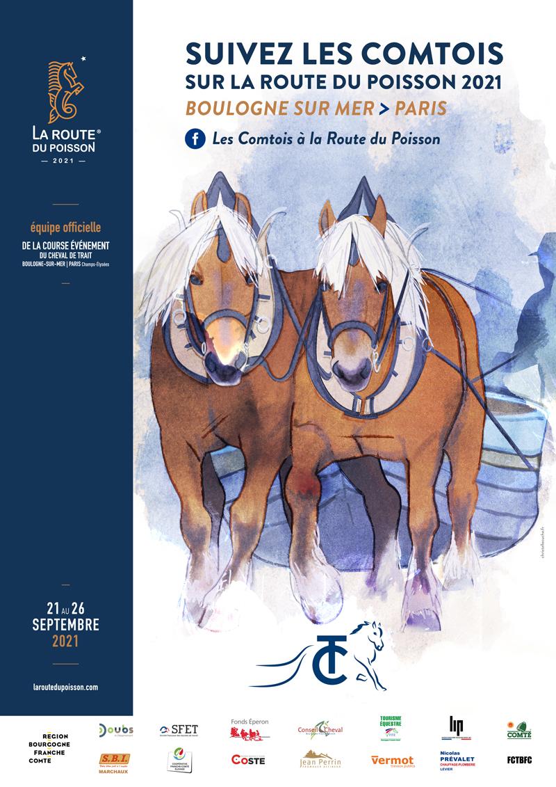 Affiche Route du POISSON_COMTOIS